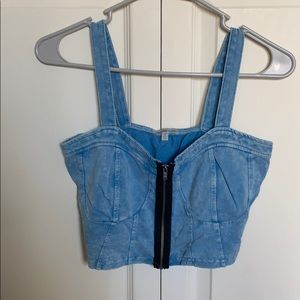 Denim looking bustier